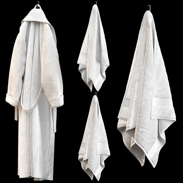 BATHROBE TOWELS WHITE