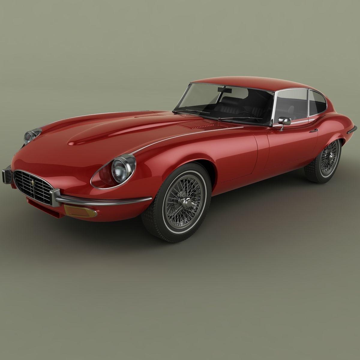 Jaguar jaguar e : 3D Jaguar E-Type coupe V12 series 3 | CGTrader