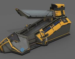 3D asset Sci Fi Cryo Pod