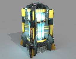 sci fi power generator animated PBR 3d asset low-poly