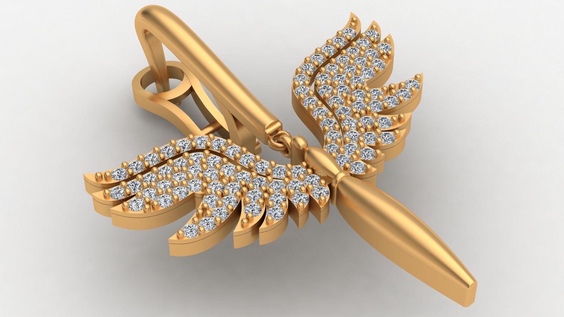 Angel Fairy Diamond Gold Earring