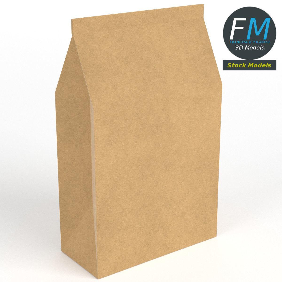Closed paper bag
