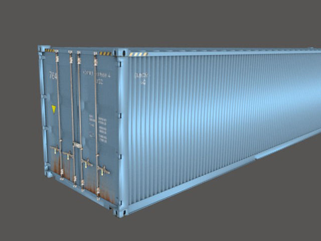 Shipping Container 40 Feet Box | 3D model