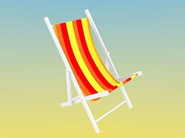 summer deck chair 3d model obj mtl 3ds blend dae 1