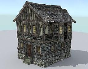 3D asset Medieval Town House