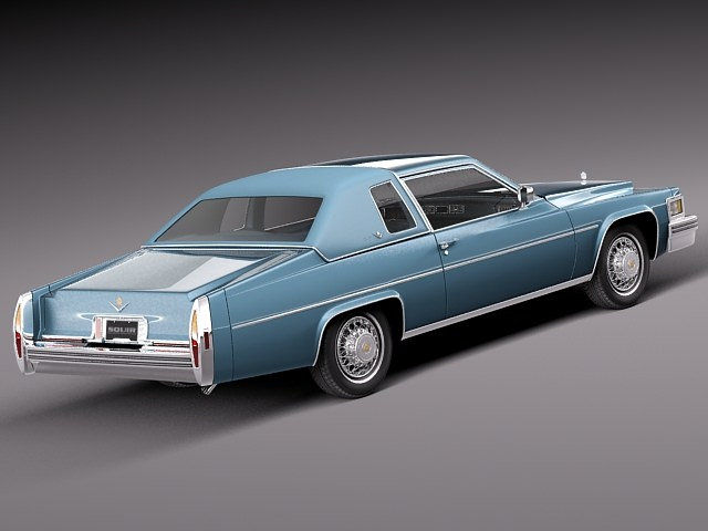 cadillac deville coupe 1977 3d model max obj 3ds fbx c4d lwo lw lws. Cars Review. Best American Auto & Cars Review