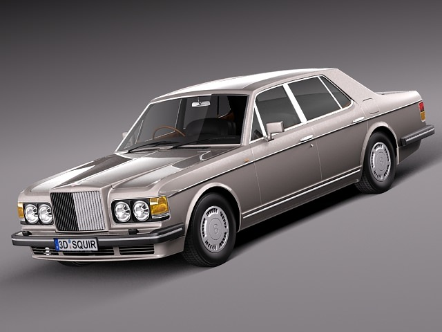 bentley turbo r 1988-1997 3d model max obj mtl 3ds c4d lwo lw lws 1
