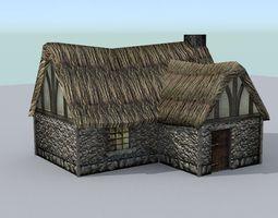 medieval farm house 2 3d asset
