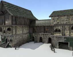 Medieval City Storehouse 3D model