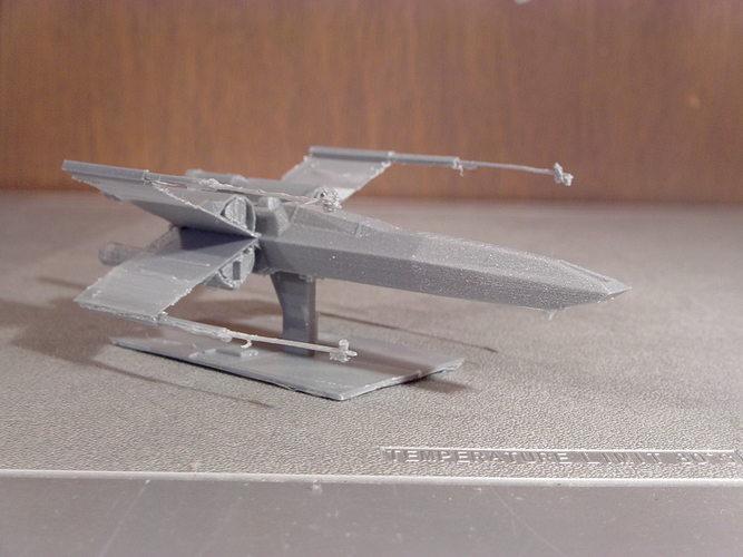 star wars episode vii resistance x-wing 3d model stl 1