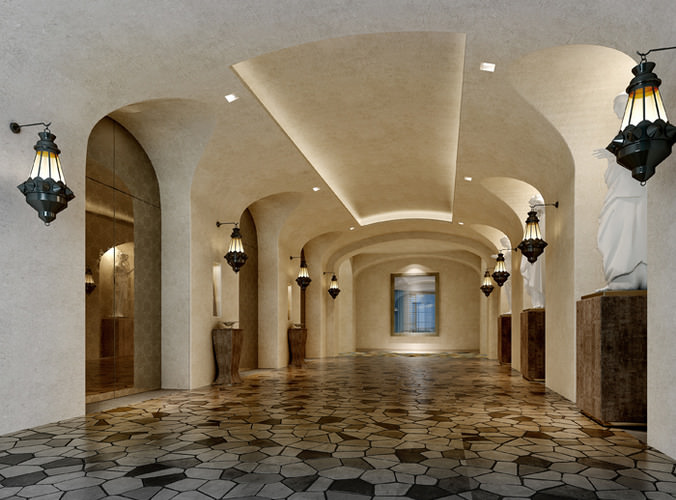 collection halls lobbies collection 11 3d models 3d model max dwg 1
