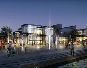 3D model traffic City Shopping Mall