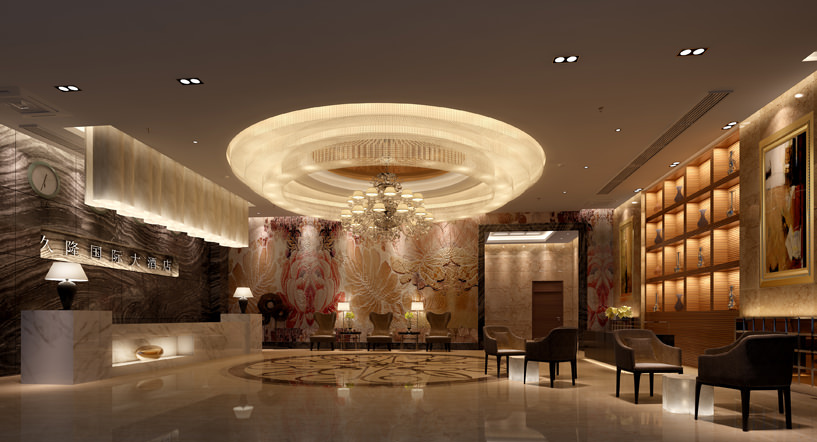 Luxury lobbies and corridors collection 10 3d models 3d for Top design hotels in europe