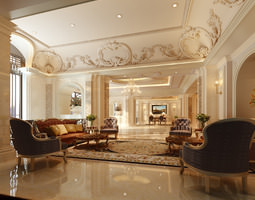 luxury lobbies and corridors collection 10 3d models 3d model max