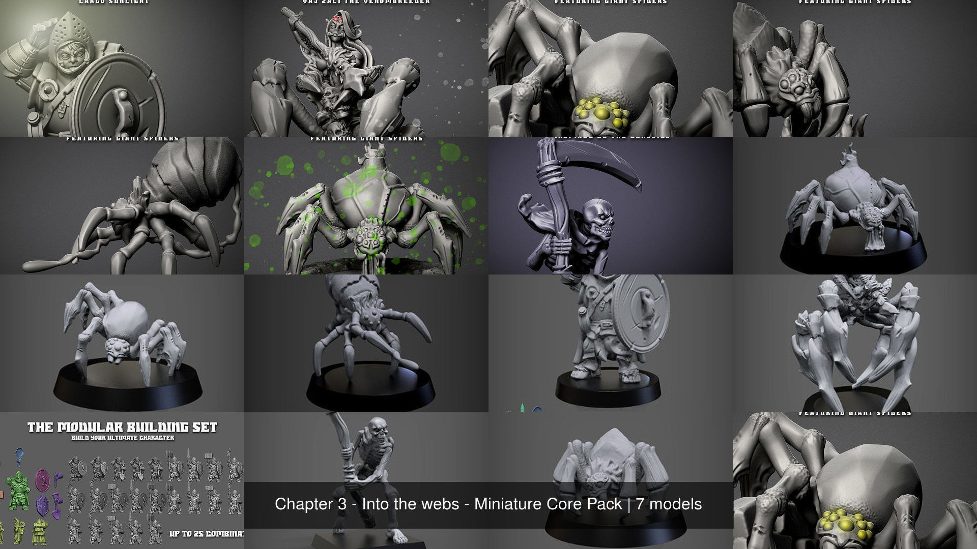 Chapter 3 - Into the webs - Miniature Core Pack