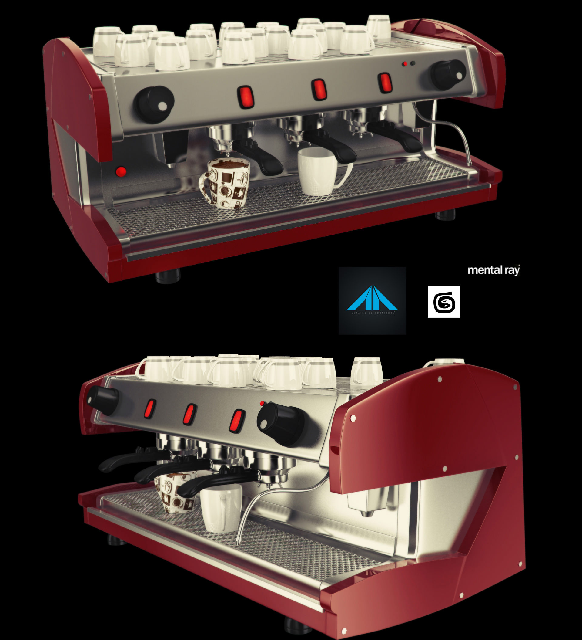 Coffee shop items free 3d model max for Mobel 3d download