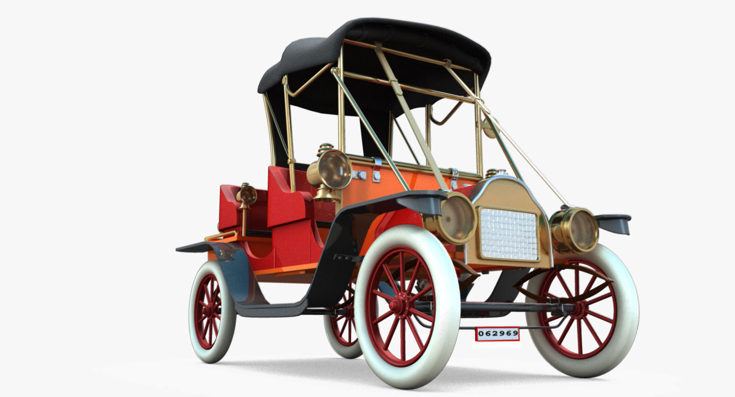 3D antique car   CGTrader
