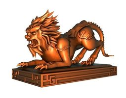 3D model Lion sculpture3