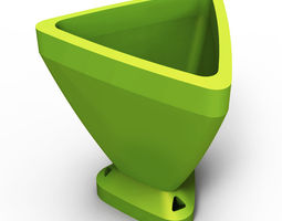 Triangular Flowerpot 3D print model