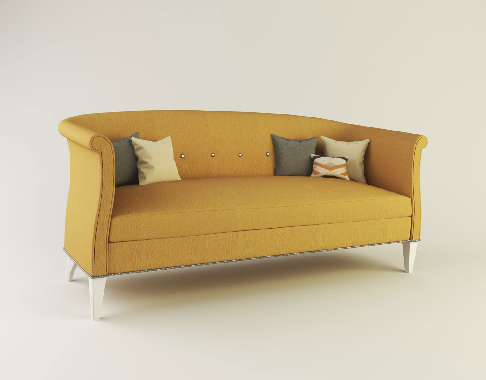 Albert Sofa From Sack Collection By Hickory Chair Furn Low Poly Model
