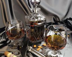 3D Cognac sigar Set