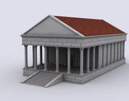 3D asset Rome house