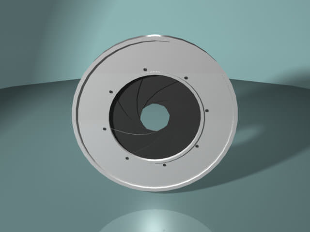 optical diaphragm - camera shutter 3d model obj ma mb 1