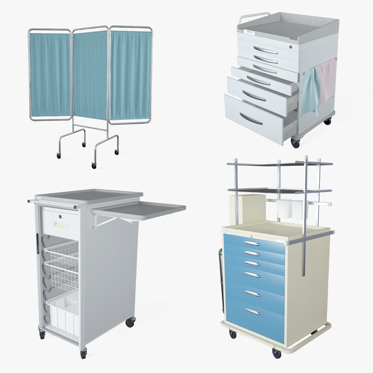 Medical Supply Cart 3 in 1