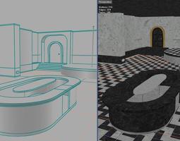 luxurious nightclub level 3D asset