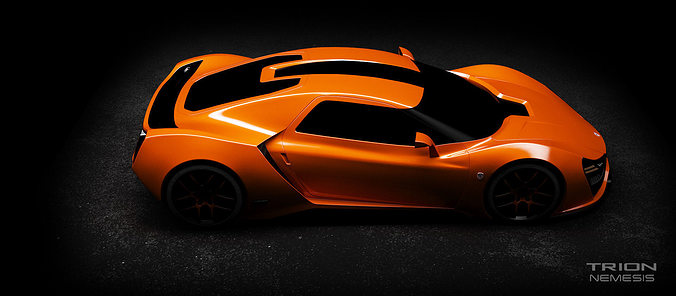 trion nemesis 2016 supercar  3d model max tga 1