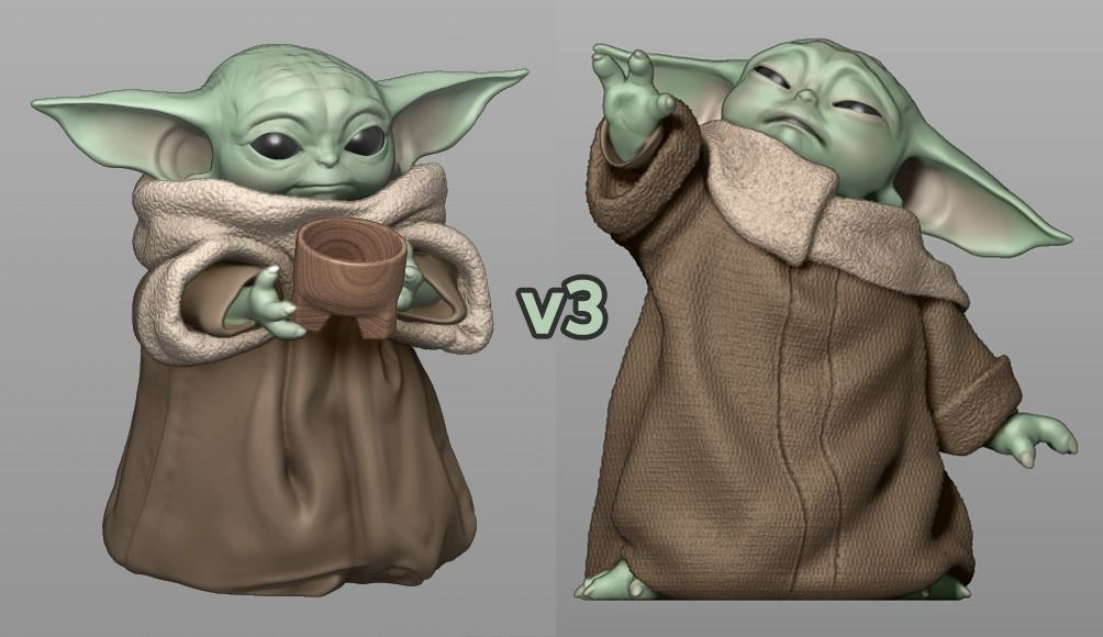 Baby Yoda Using The Force - With Cup - PACK - The Mandalorian