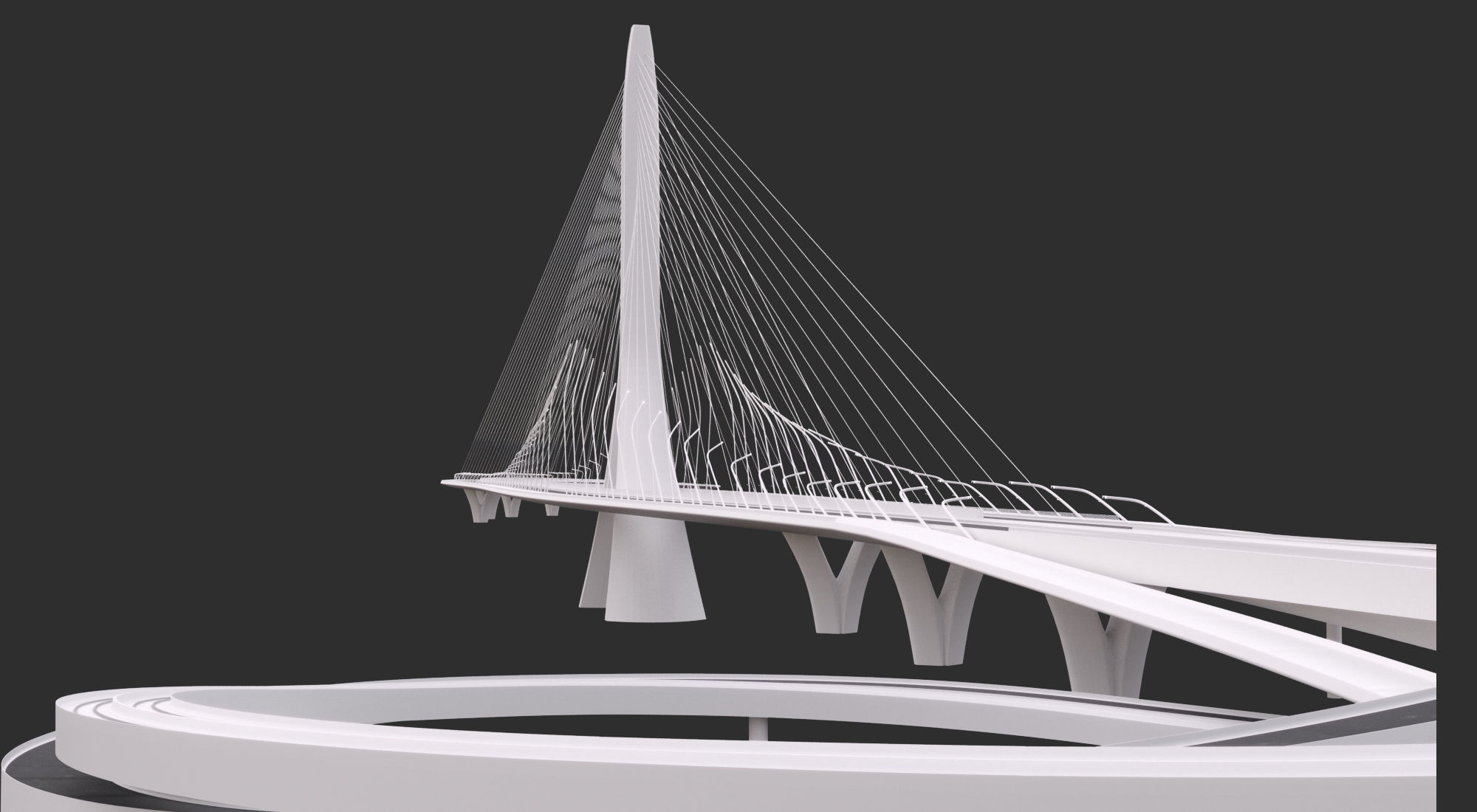Zaha Hadid Architects Danjiang Bridge in Taiwan