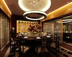 Restaurant Dining Room breakfast 3D model