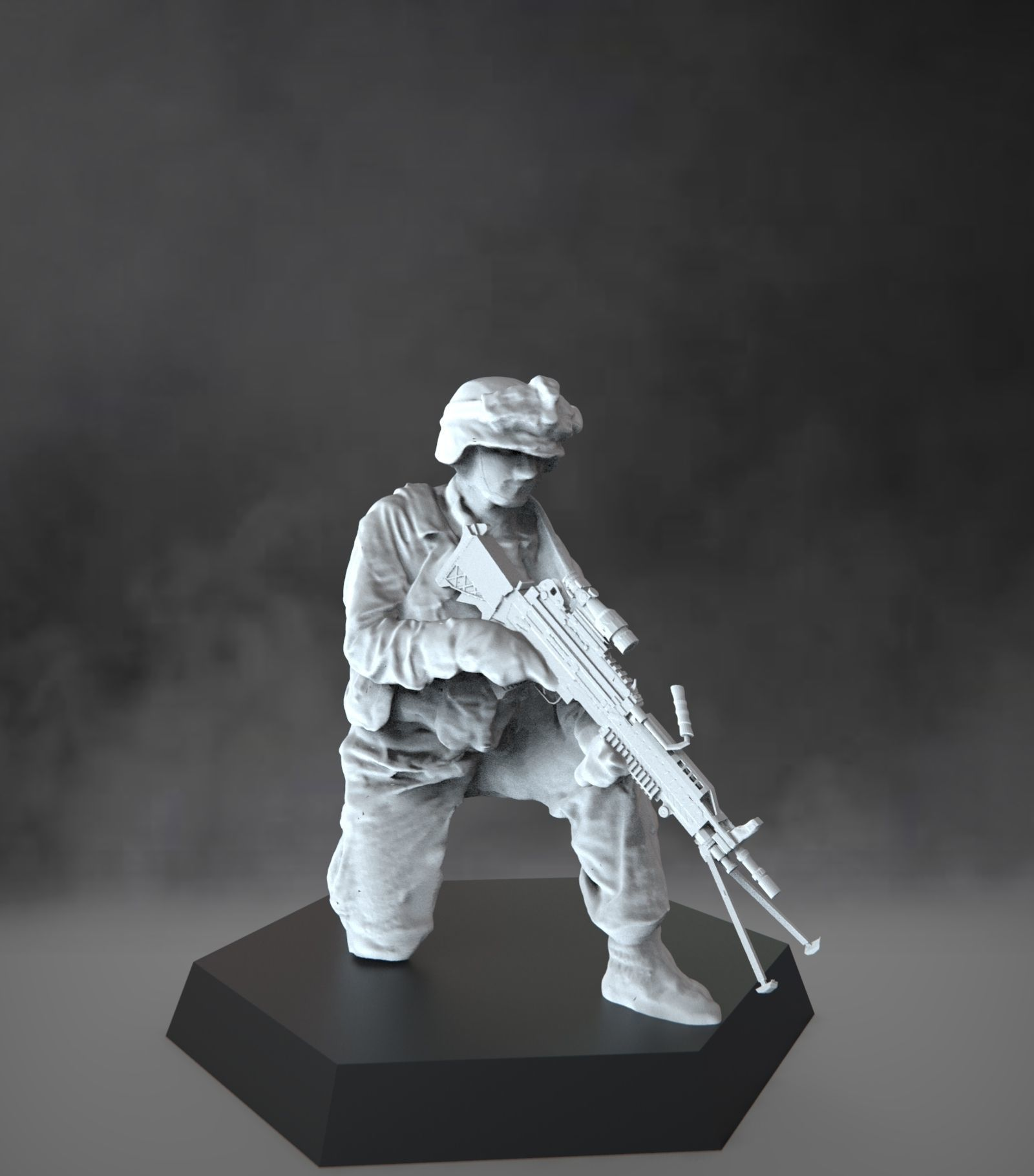 US Marine with light machine gun - USMC