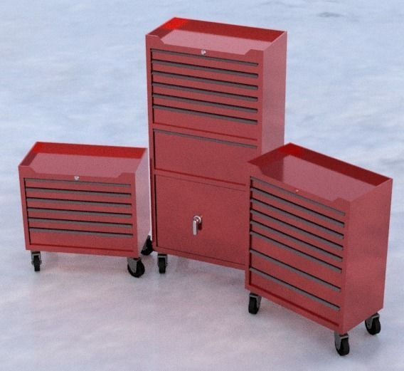 Garage tool box 3 piece