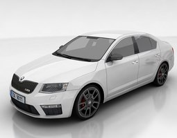 3d model skoda octavia 3 rs liftback game-ready