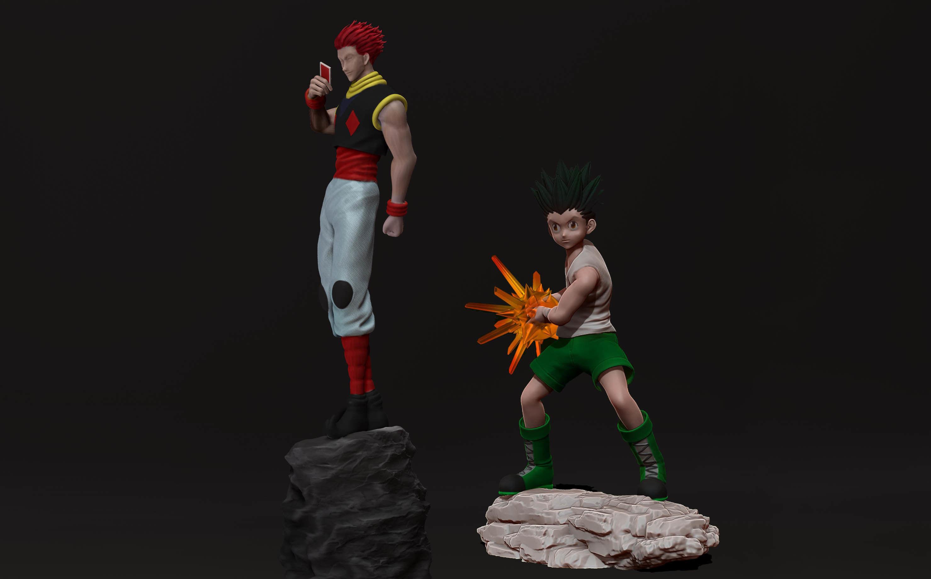 Hunter X Hunter 3d Prints Gon Freecss And Hisoka Morrow