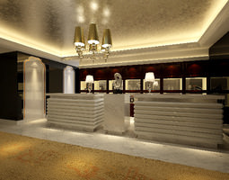 3d model bright foyer