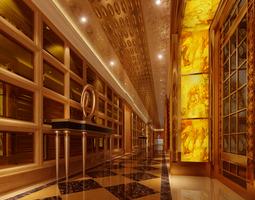 Luxury corridor 3D model