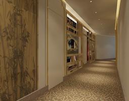 3D model Corridor entrance