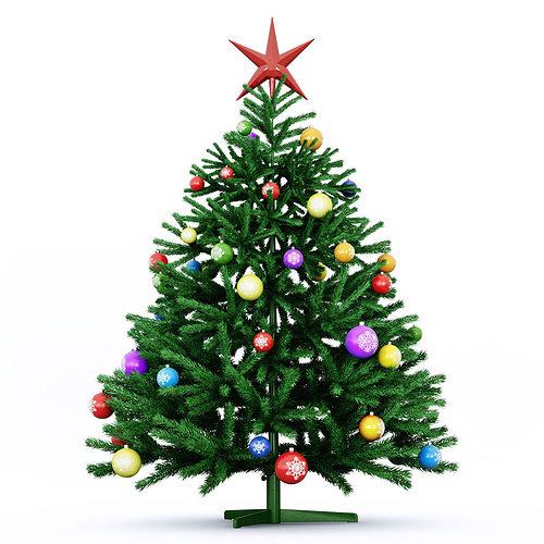 christmas tree green 2016 3d model max obj mtl fbx 1