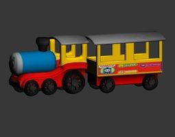 3D model animated train