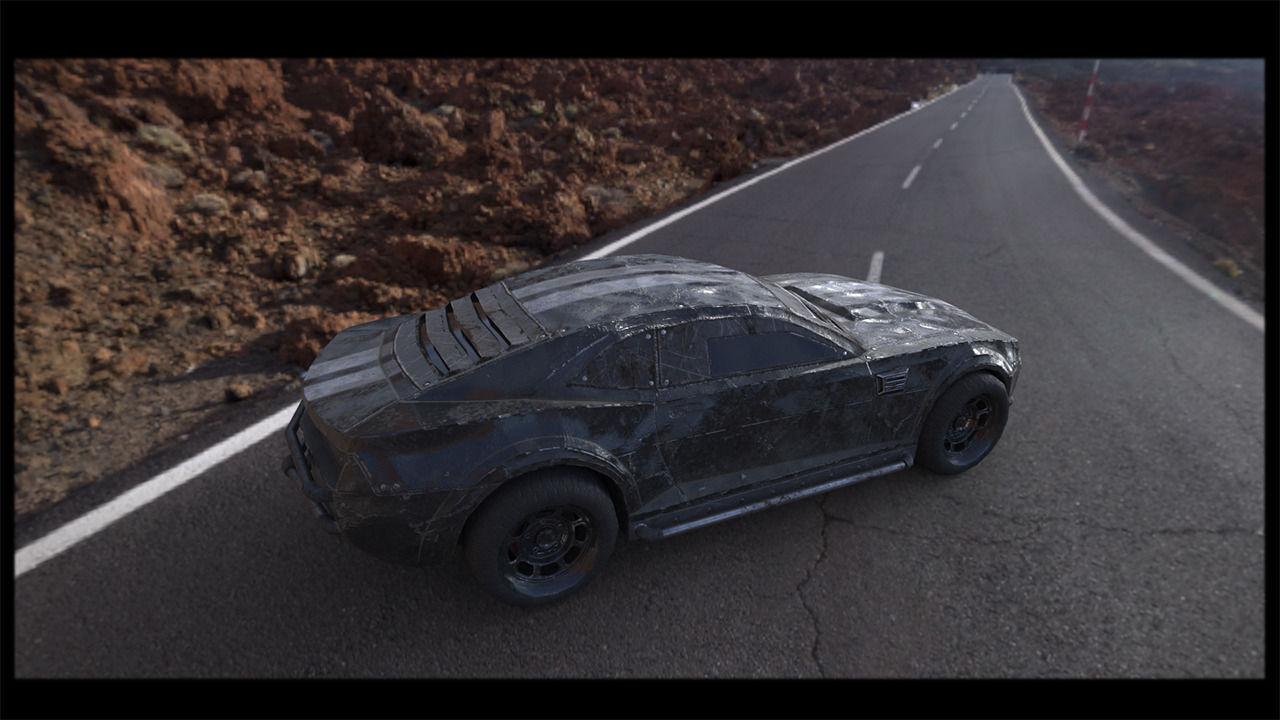 Post Apocalyptic Battle Car 3d Asset Cgtrader
