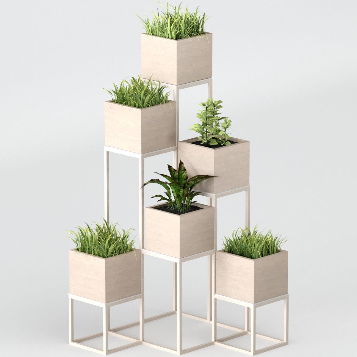 Pot Plant 3d Model Indoor Plants Shelf With Plants