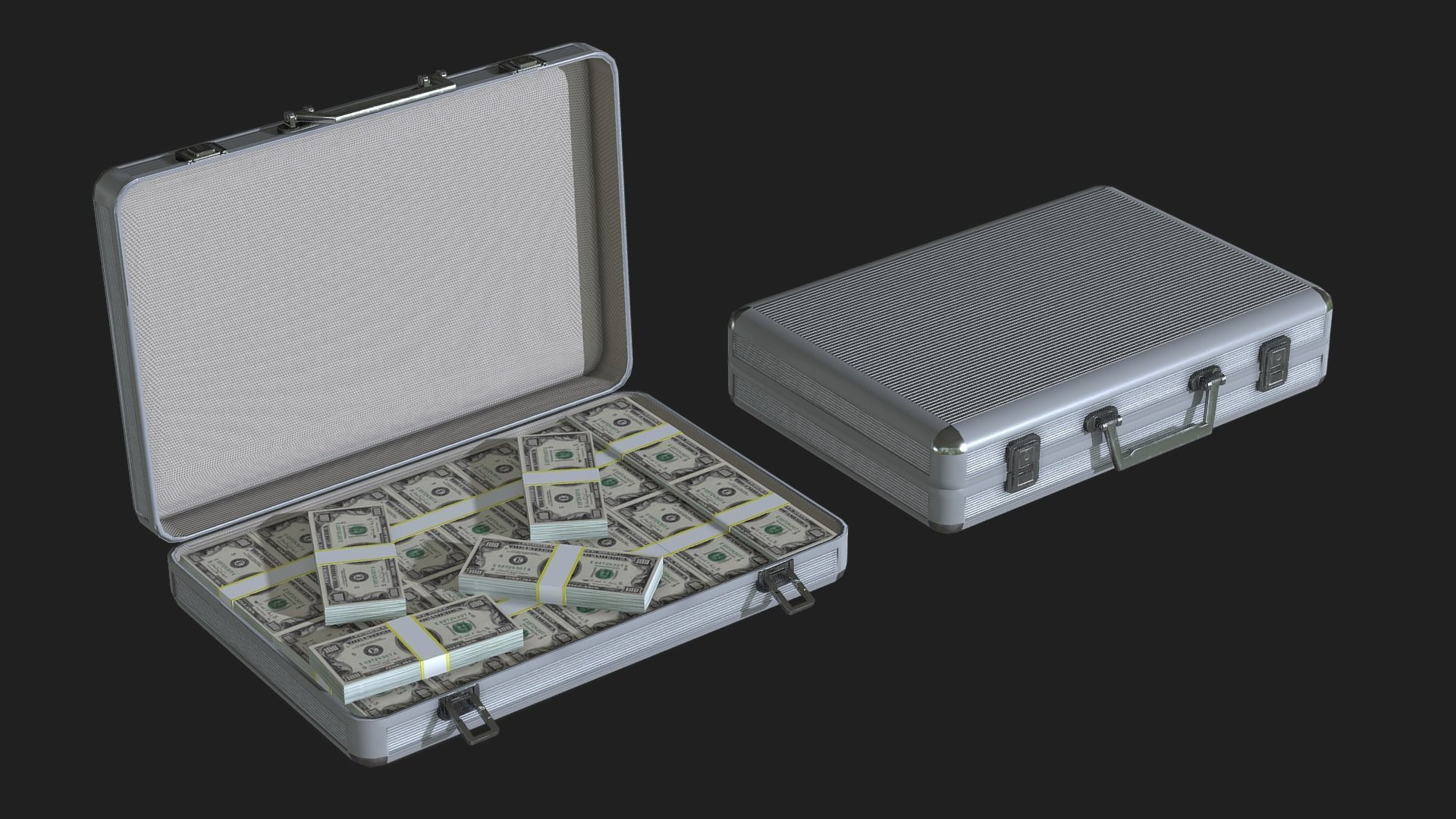 Lowpoly Money Suitcase