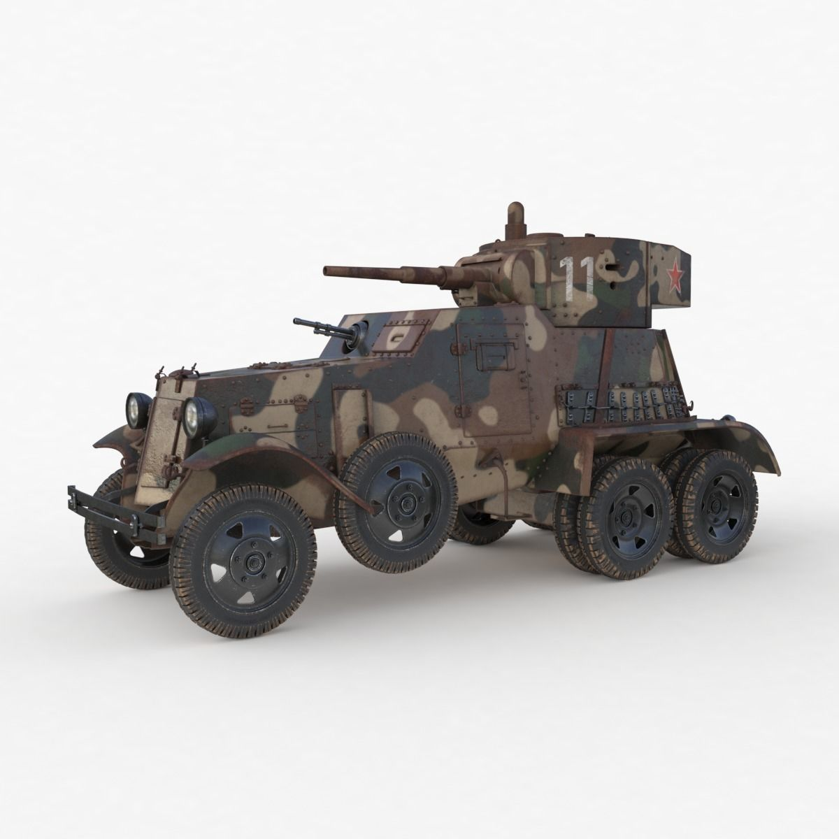 BA 6 Armored Car Camouflage Vray