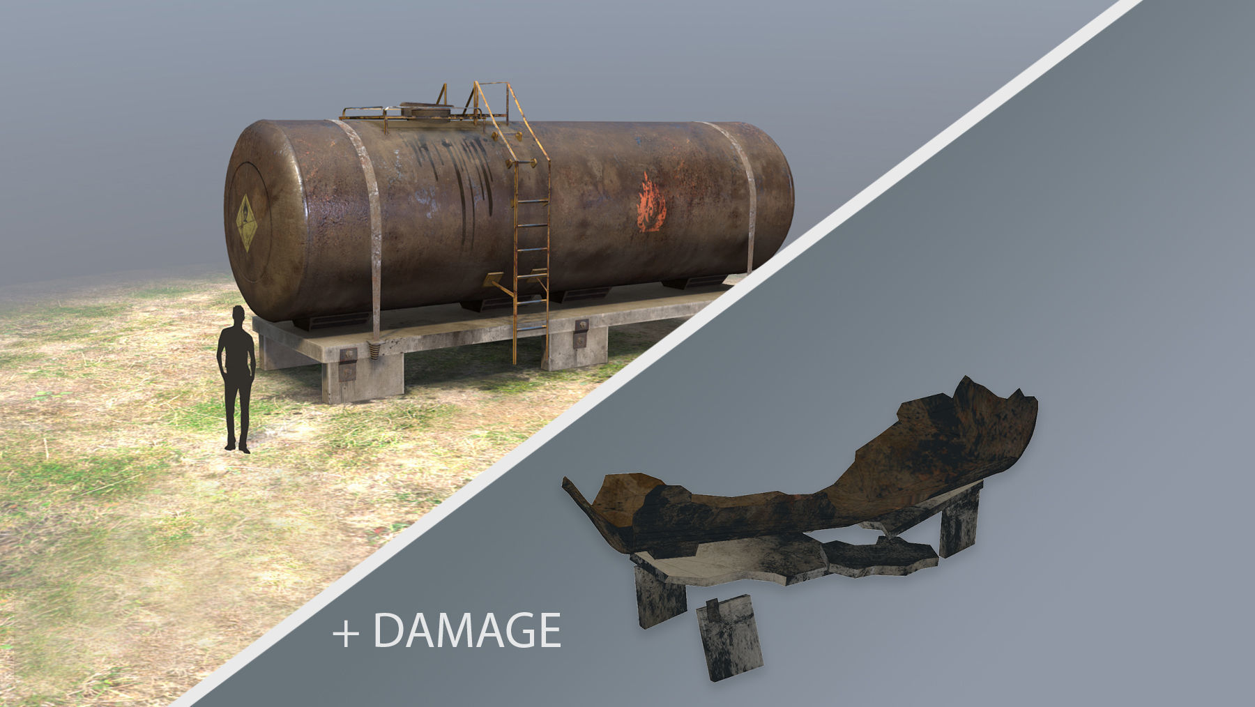 FuelTank 01 with Damage
