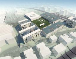 Campus Buildings Set 01 3D model