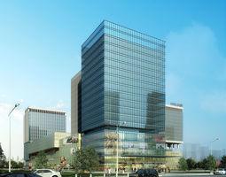 exterior Commercial Plaza 3D model