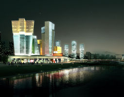 3D architecture Commercial Plaza